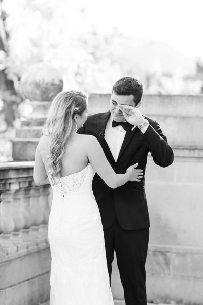 dc-wedding-photographer-photojournalist-photo-style-black-white-first-look-photo-meridian-house-wedding-venue-photo