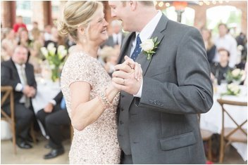 mother groom dance at Wyche Pavilion reception