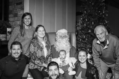 Carmel photo booth with Santa.