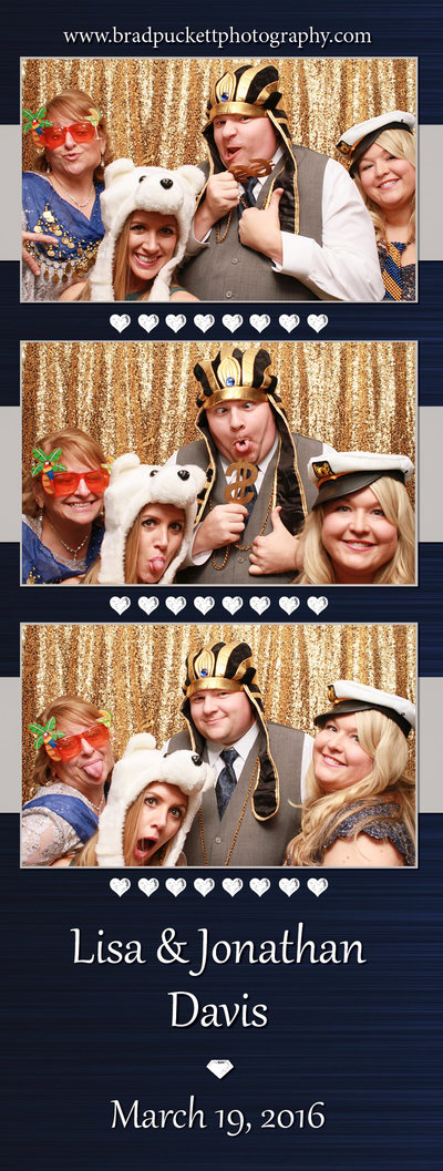 Lisa and Jonathan Davis' 3-up  customized photo booth template sample.
