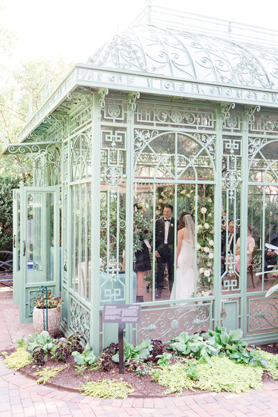 luxurious garden microwedding at Denver Botanic Gardens