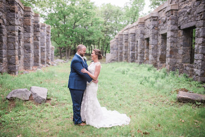 quincy massachusetts wedding photography bride and groom granite links golf course