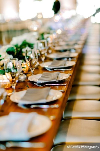 Head Table Setting at Wedding Reception
