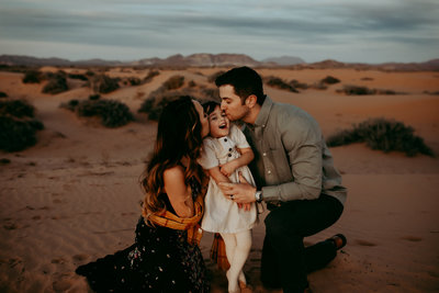Red Sands Desert Family Session
