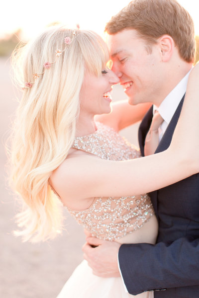 Fairytale Desert Engagement Session with Flower Crown | Amy & Jordan Photography
