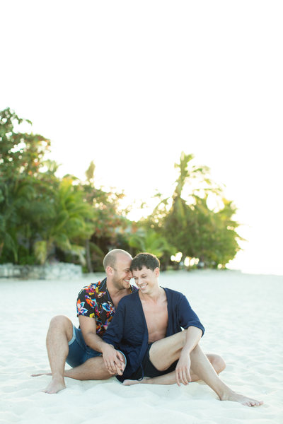 destination fiji beach engagement photographer