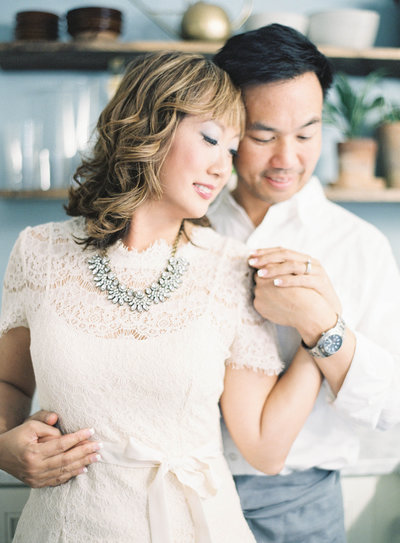 Profile photo of Evonne & Darren Wong, fine art wedding photographers in California, portrait by Jen Huang film photographer