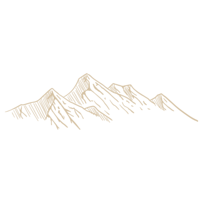 hand drawn mountain range