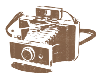 the vintage photobox camera logo