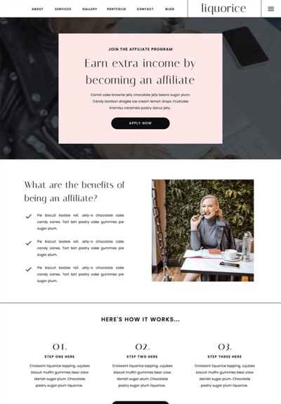liquorice-affiliate-showit-template