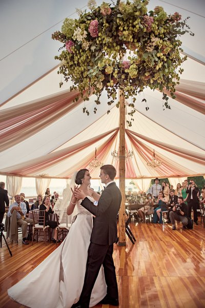 First dance under tent at The Branford House in Groton, CT