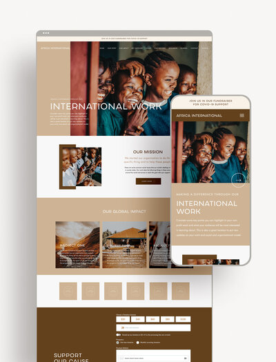 Nonprofit Showit Website Template | Website Templates for the Social Entrepreneur | Studio Humankind