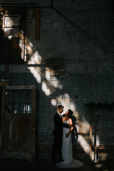 basilica hudson uniqe shadows made by the amazing windows of this industrial wedding space