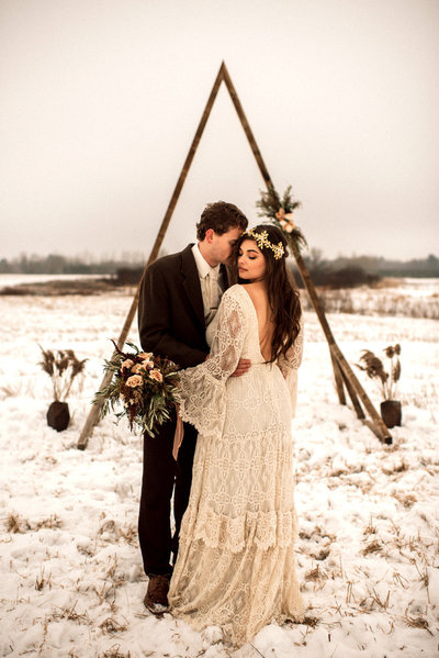 Winter Wedding Outdoor Photography Paisley Ann