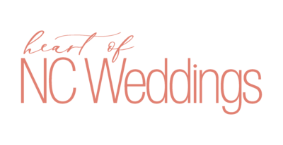 Heart of NC Weddings peach logo