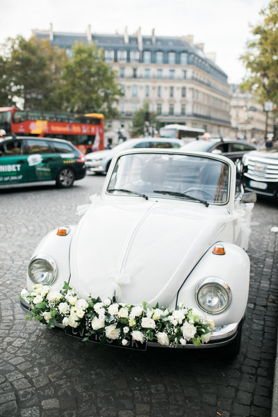 Wedding Photographer, decorated VW bug