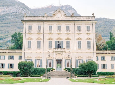Villa Sola Cabiaiti, site of luxury wedding photography workshop and education in Italy, on Lake Como. Photographed by Amy Mulder Photography
