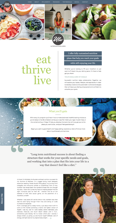 Nutrition Website by Tribble Design Co.