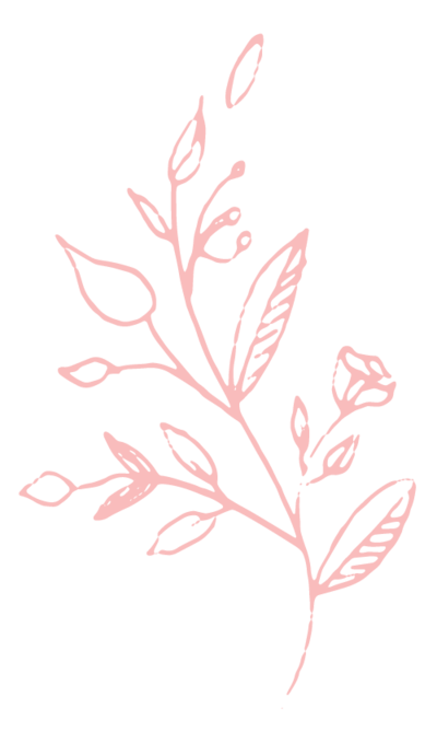Branded Floral Graphic Element in Peach