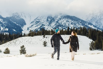 Grand Teton National Park Adventure Engagement Photo Shoot