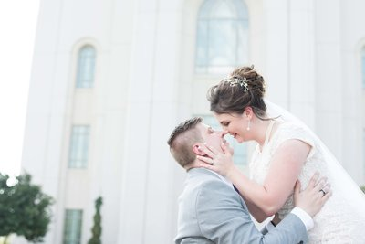 LDS Kansas City Temple Wedding