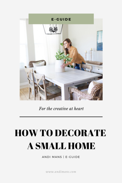How to Decorate a small home E-Guide