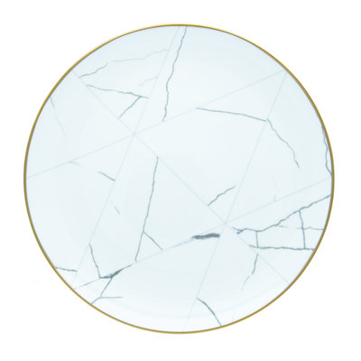 Marble and gold rim charger plate