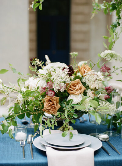 Centerpiece garden style, atlanta wedding florists