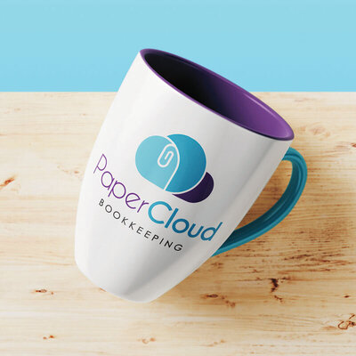 PaperCloud Bookkeeping Mug by The Brand Advisory