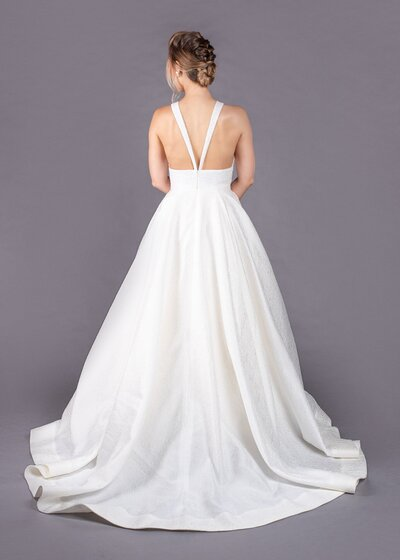 Back view of the Joan ballgown wedding dress