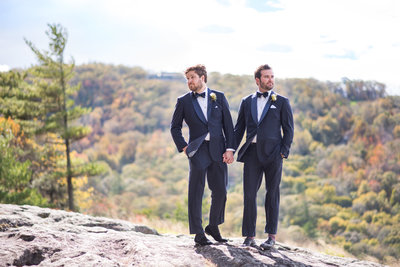 gay wedding couple highlands nc