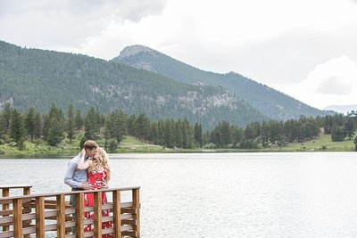 Engagement at Lily Lake in Rocky Mountain National Park