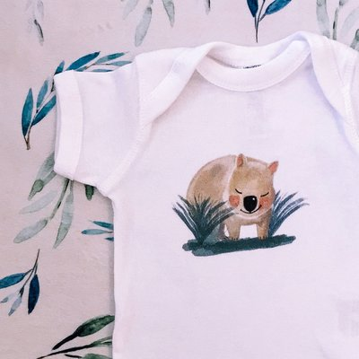 Luxury Baby Wombat Onesie Playsuit - 100% Cotton - Wombat & Friends