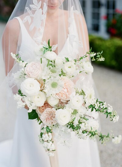 bride and bouquet by Two Wild Hands Hunter Valley Florist