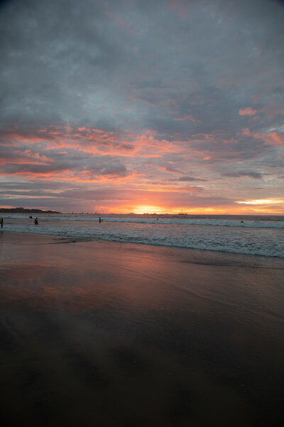 Tropical pink sunset in Tamarindo, Costa Rica