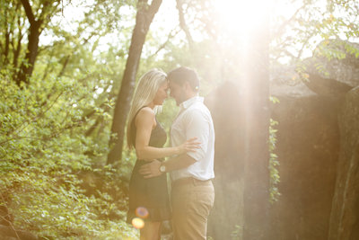 austin wedding photographer couple at sunset bull creek park