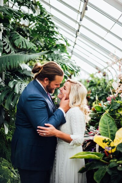 Volunteer Park Conservatory Elopement Photos