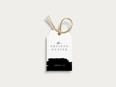Hang tags designed for The Artisan Oyster
