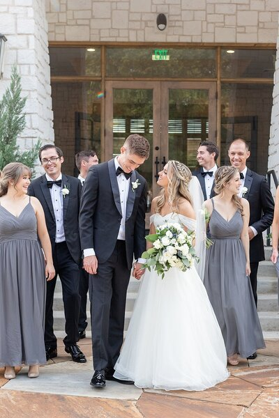 hidden pines highland village wedding bridal party