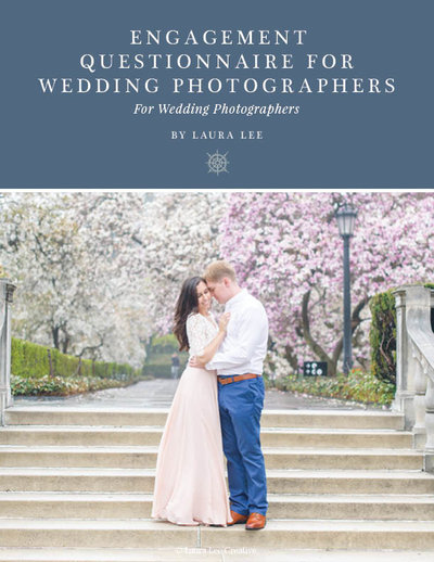 Engagement questionnaire for wedding photographers