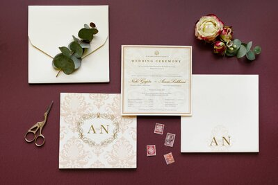 Opulent wedding stationery suite
