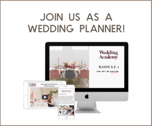 Join us as a wedding planner!