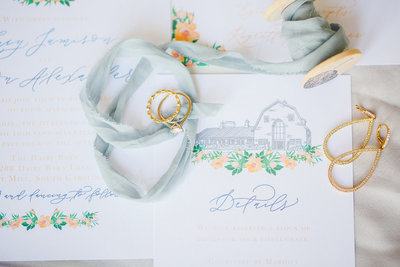Custom wedding invitations by Dear Kathryn