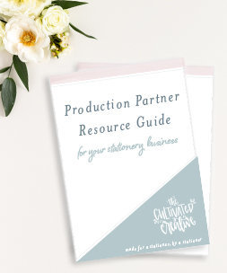 my go to print resources for my stationery business