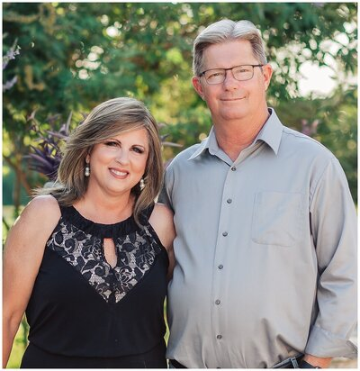 Patti and Larry, owners of Emery's Buffalo Creek- Houston area Wedding Venue
