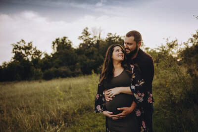 Maternity photography in Lafayette field