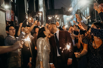 housingworks-bookstore-wedding-sparkler-exit-nyc-1