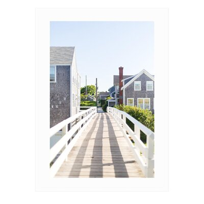 Framed Nantucket Coastal Art Print