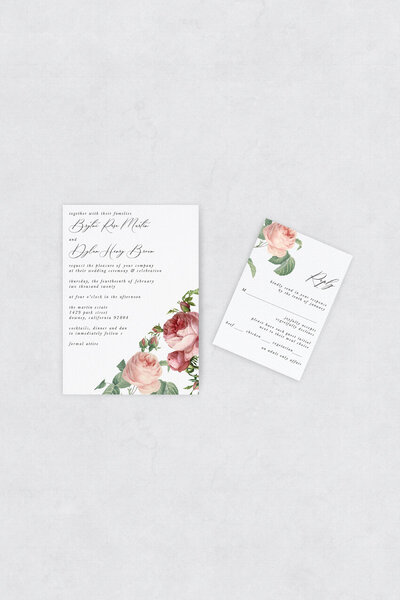 pirouettepaper.com | Wedding Stationery, Signage and Invitations | Pirouette Paper Company | Semi Custom Invitations | The Rosie  07
