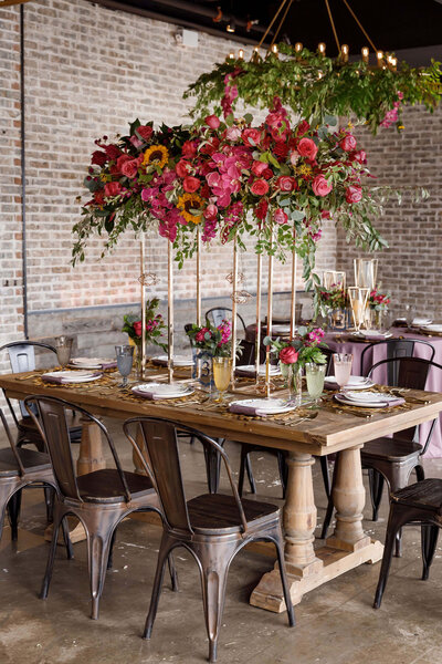 Modern Wildflower Wedding